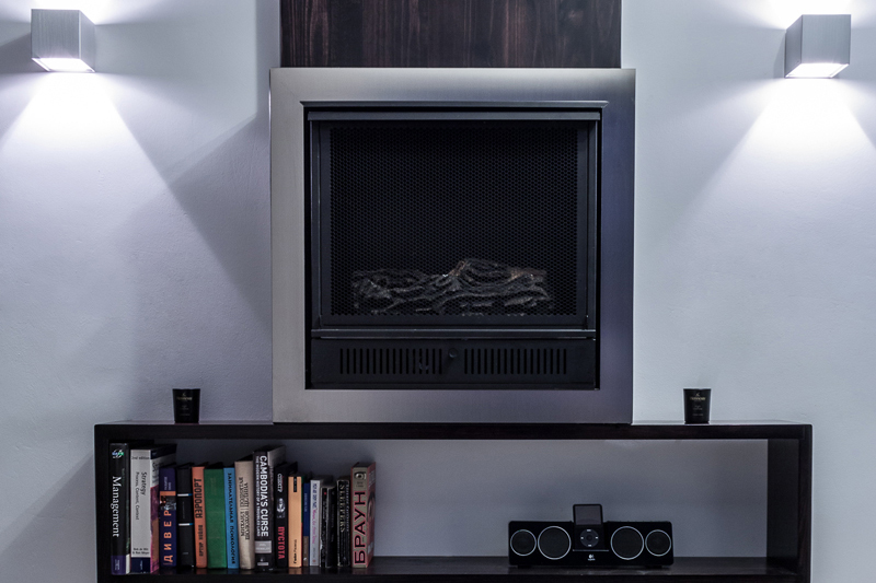 Bespoke Fireplace Feature – San Gwann Apartment